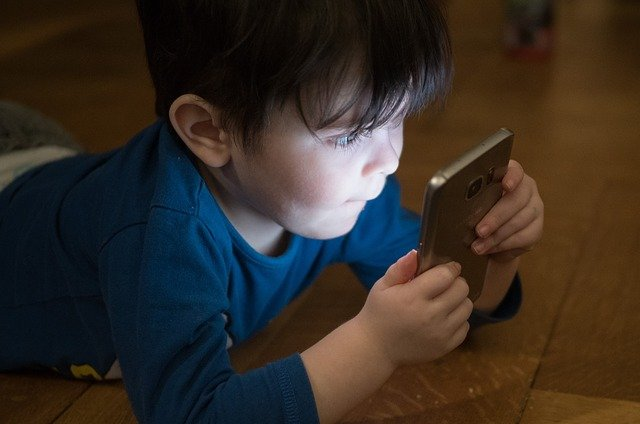 playing on a phone